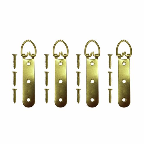 Everhang 25kg Brass Plated Heavy Duty D Ring - 4 Pack