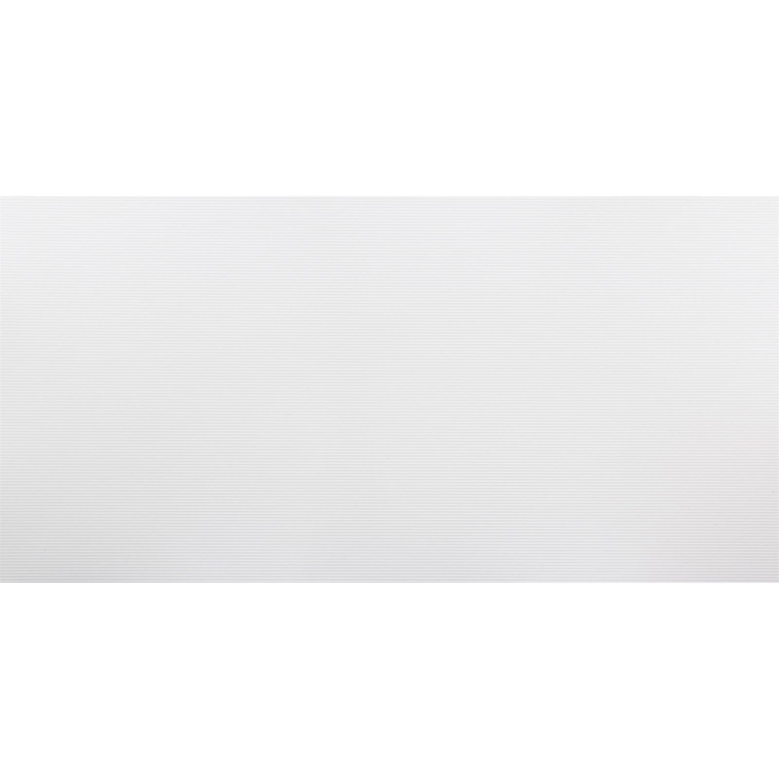 Seratone 2400 x 1200 x 4.5mm Polar White Aqua Ripple Tile