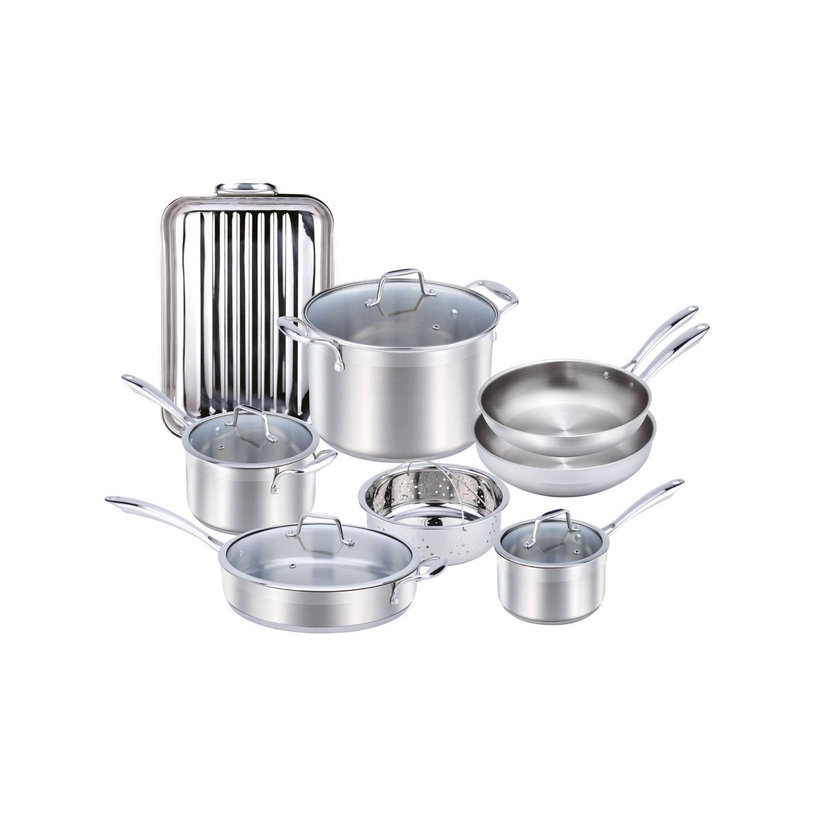 Wolstead Steeltek Stainless Steel 8pc Cookware Set