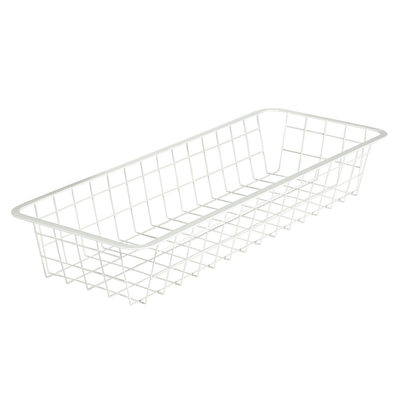 Flexi Storage 205mm White 1 Runner Half Width Wire Basket