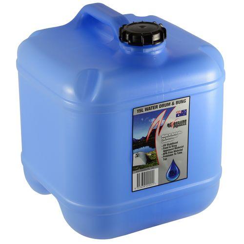 AdVenture Products 15L Blue Tint Water Storage Drum