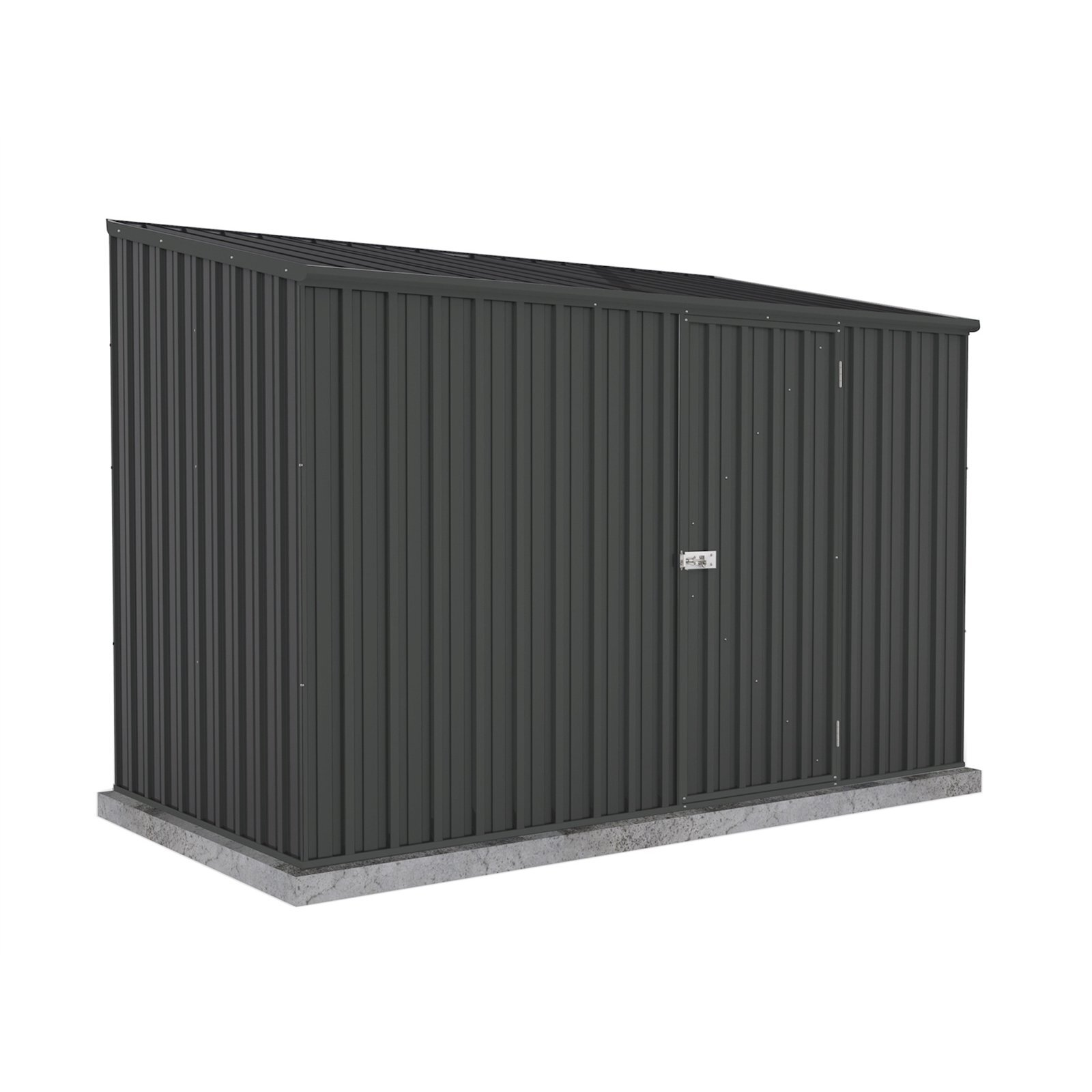 Absco Sheds 3 x 1.52 x 2.08m Space Saver Single Door Garden Shed - Monument
