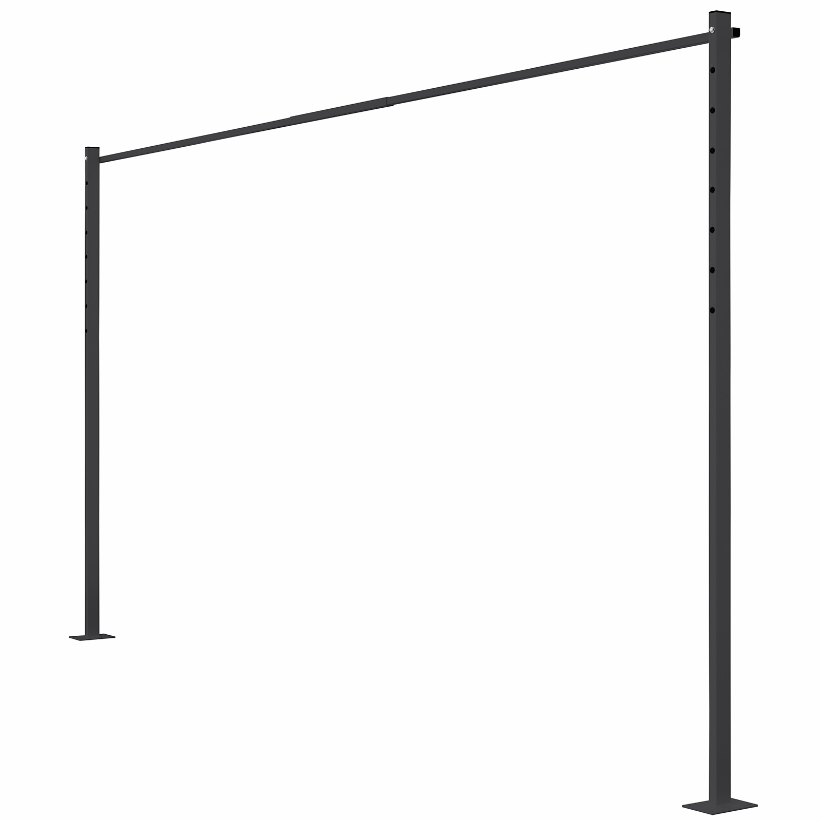 Austral 3.3m Monument Fold Down Clothesline Accessory Ground Mount Kit Plated