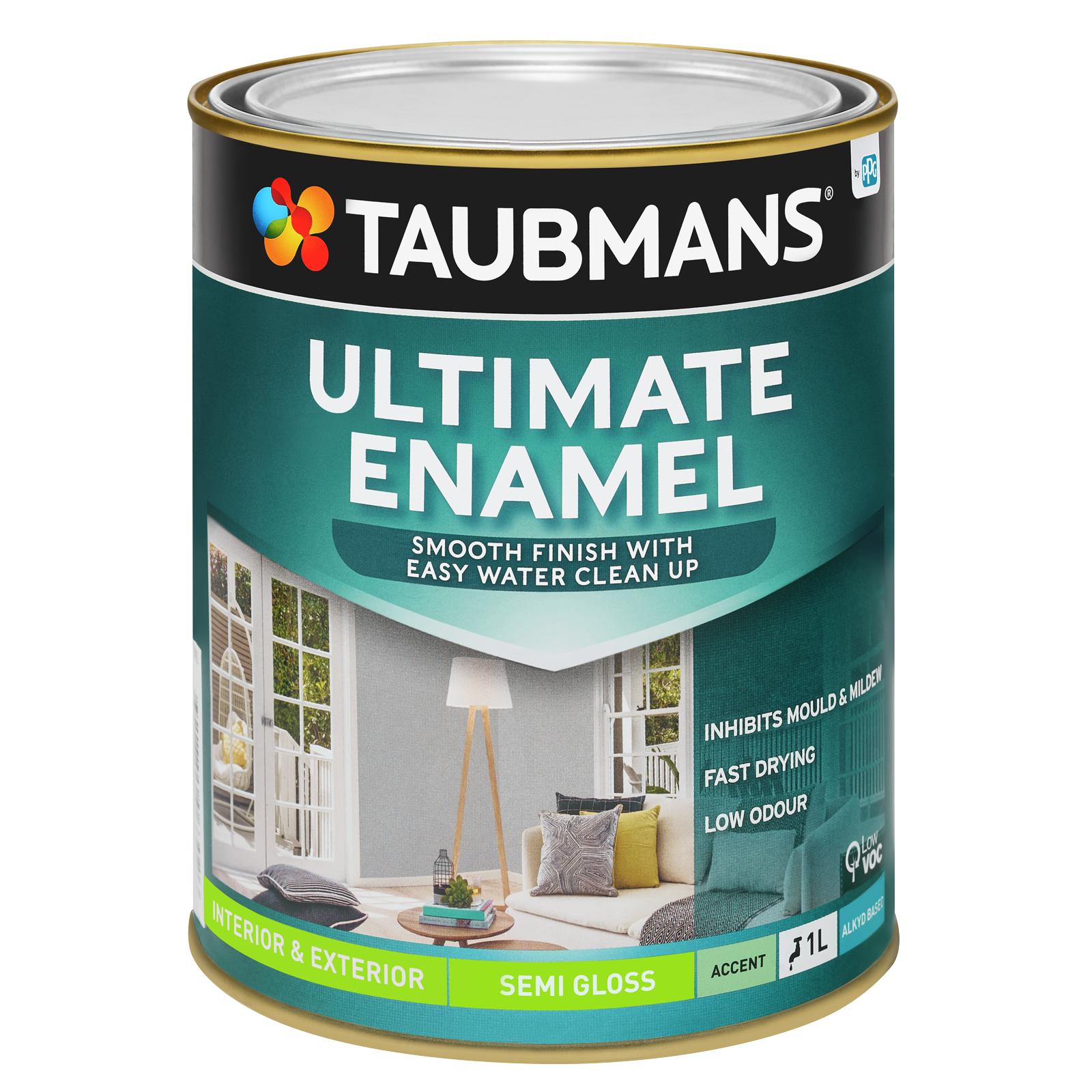 Taubmans Ultimate Enamel Accent Semi Gloss Enamel - 1L