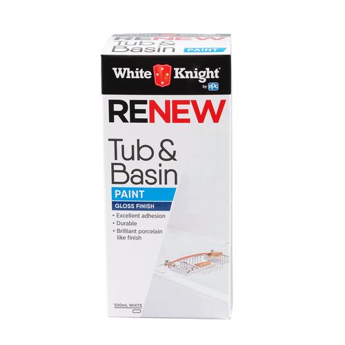 White Knight 500ml White Tub And Basin Paint
