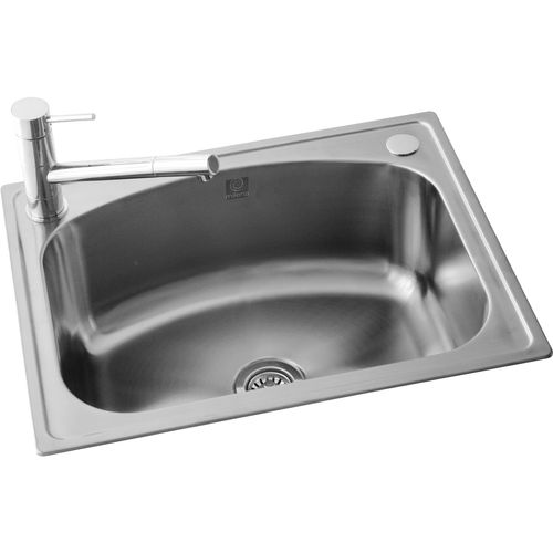 Milena 35L Stainless Steel Euro Inset Laundry Trough With 2 Tap Holes