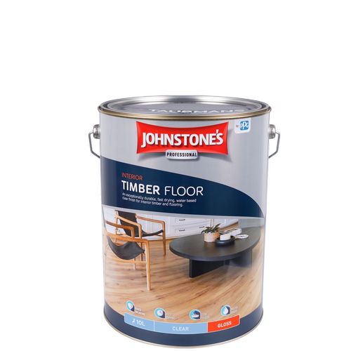 Johnstone's 10L Clear Gloss Interior Timber Floor Finish
