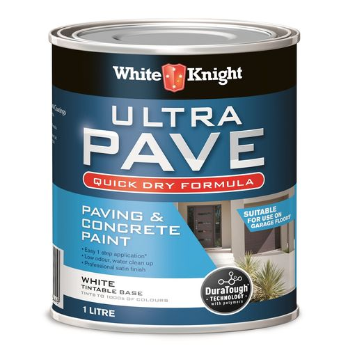 White Knight 1L White Ultra Pave Quick Dry Paint