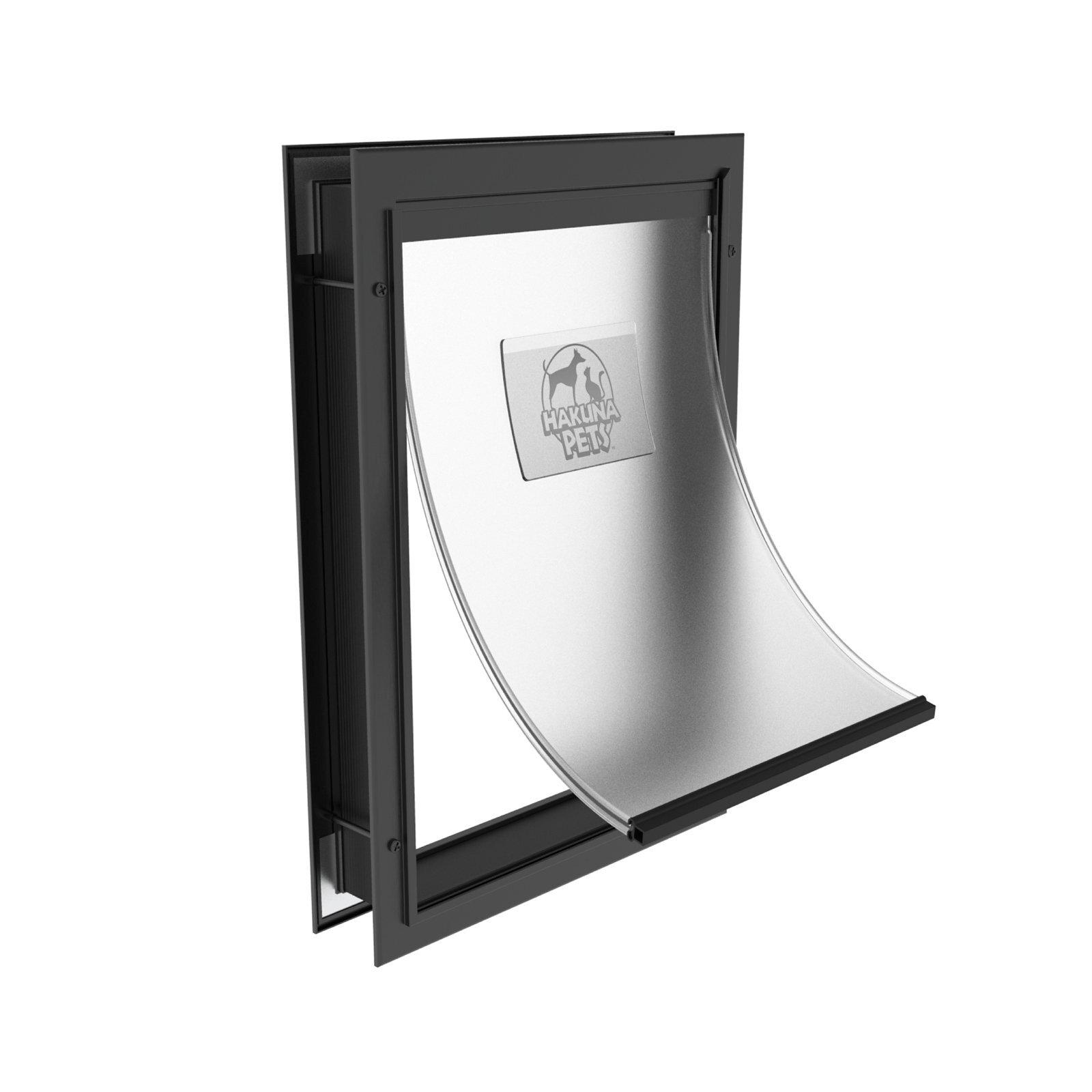 Hakuna Pets Large Black Deluxe Aluminium Pet Door