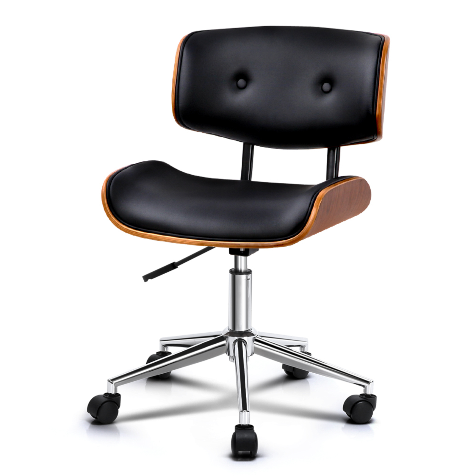 Artiss Black PU Leather & Wood Office Chair