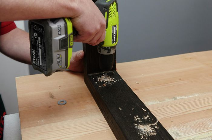 DIY Step Image - How to make a D.I.Y. wooden dining table. Blob storage upload.
