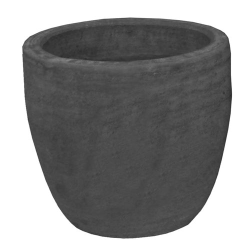 Northcote Pottery Large Charcoal Caféstyle Egg Garden Pot