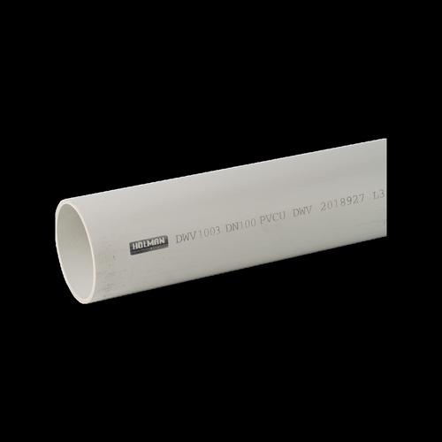 Holman 100mm x 3m PVC DWV Pipe