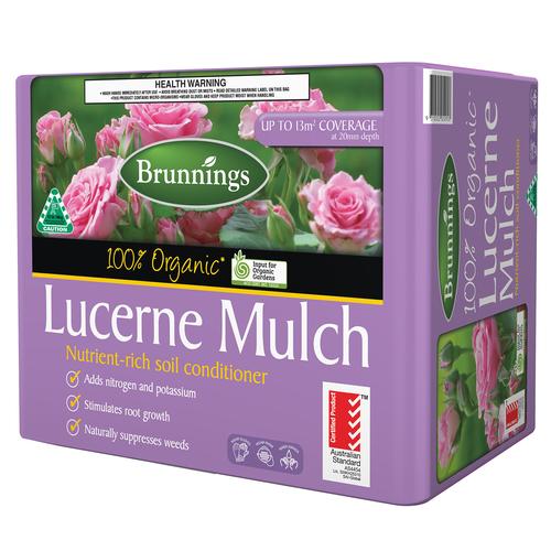 Brunnings 13m2 Organic Lucerne Mulch Bale