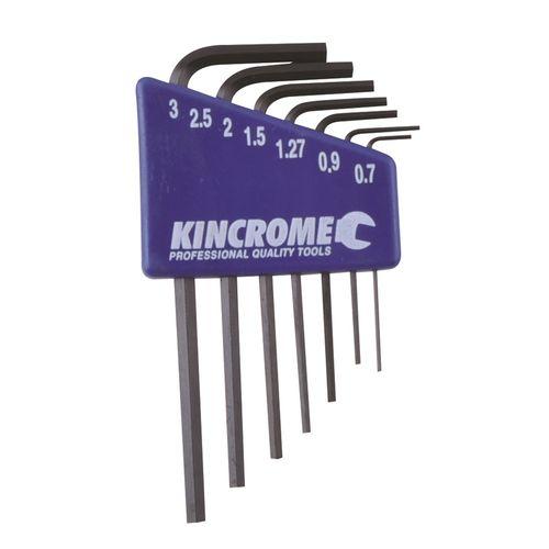 Kincrome Hex Key Set 7pc Mini Met