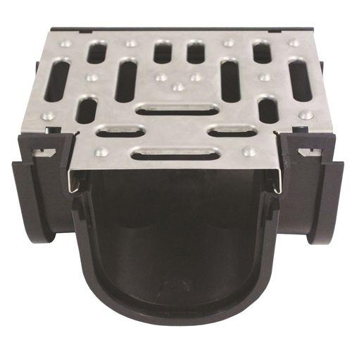 Everhard EasyDRAIN Pressed Stainless Steel Grate & Tee