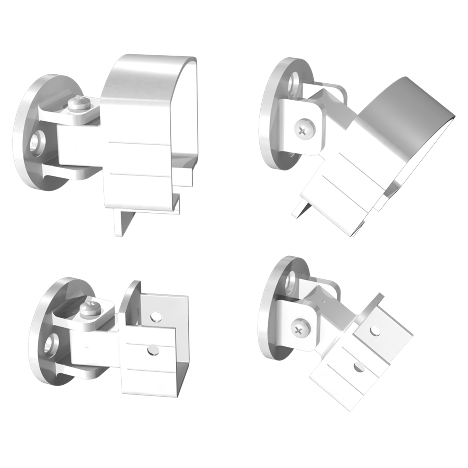 Peak Products White Aluminium Balustrade Universal Bracket
