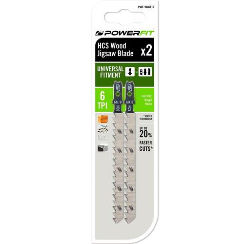 PowerFit 6TPI Wood Jigsaw Blade - 2 Pack