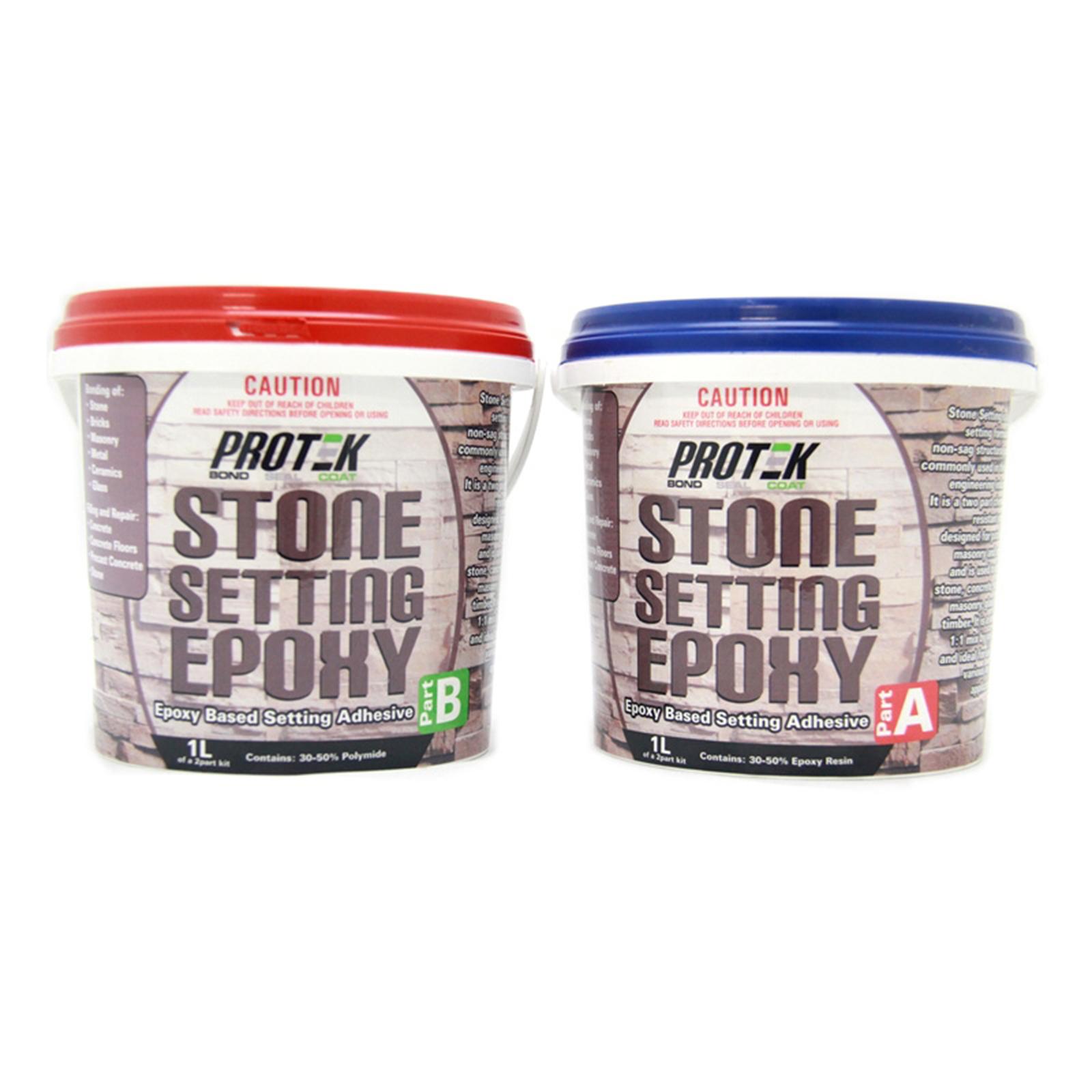 Protek 2L Stone Setting Epoxy Adhesive Kit