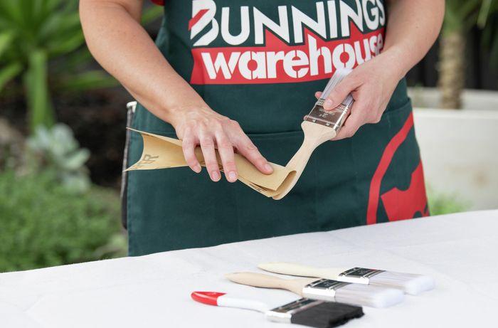 Preparing brushes and craft area