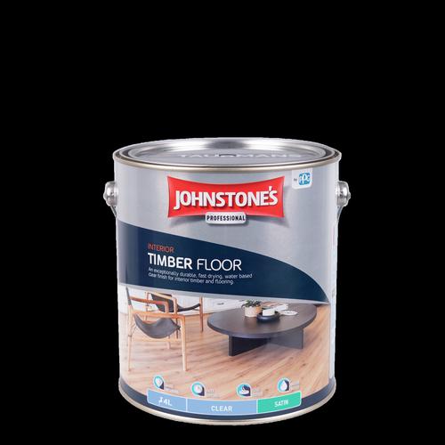 Johnstone's 4L Clear Satin Interior Timber Floor Finish