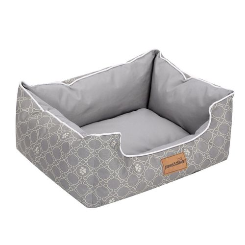 Paws & Claws 55x45cm Fremantle Oxford Walled Pet/Dog Small Non Slip Bed Grey