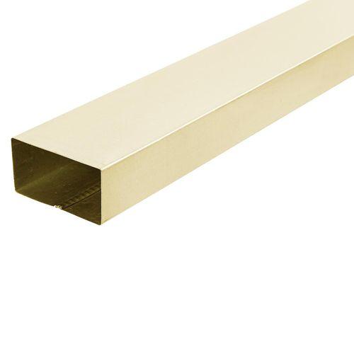 COLORBOND® 0.4 x 100 x 50mm x 2.4m Steel Downpipe - Classic Cream