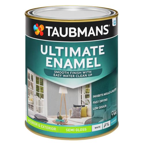 Taubmans White Semi Gloss Ultimate Enamel - 1L