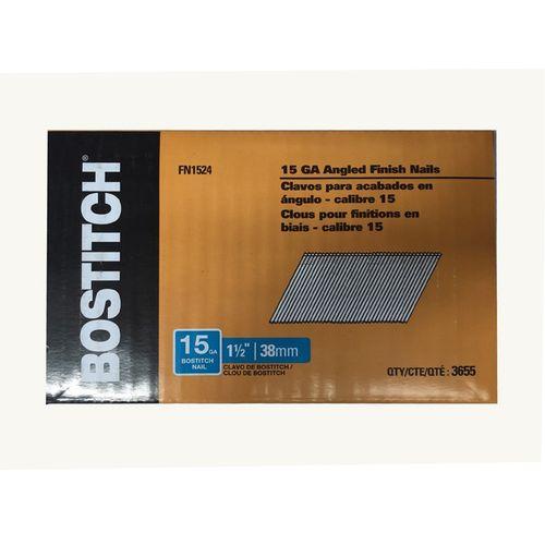 Bostitch 15GA FN style 38mm Angled Brad Nails Box of 3655