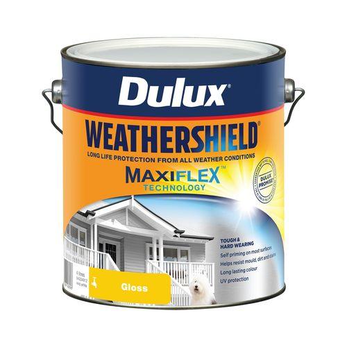 Dulux 4L Exterior Paint Weathershield Gloss Vivid White