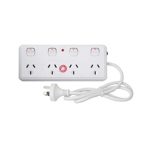 Arlec 4 Outlet Individually Switched Surge Protected Power Board