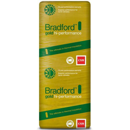 Bradford R2.5 1160 x 570 x 90mm 6.0m2 Gold High Performance Wall Batts - 9 Pack