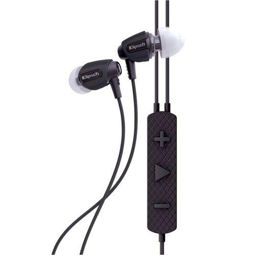 Klipsch Pro Sport AW-4i Wired 3.5mm Aux In-Ear Earphones for iPhones w/Mic Black
