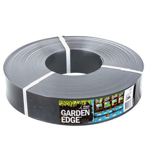 Icon Plastics 75mm x 30m x 3mm Grey Slate Garden Edge