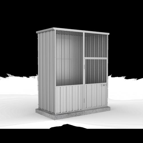 Absco Sheds 1.52 x 0.78 x 1.8m Zincalume Single Door Aviary