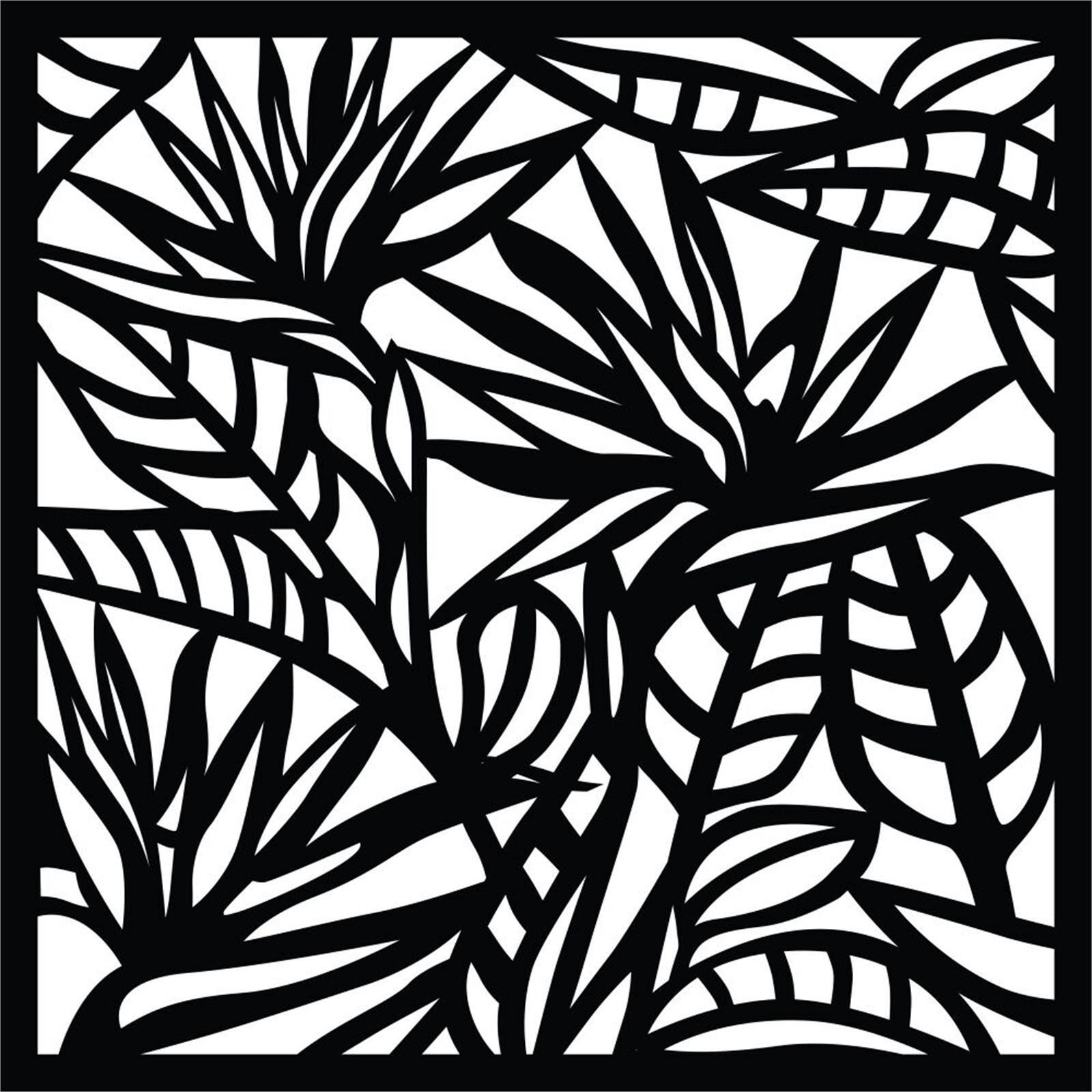 Matrix 580 x 580mm Charcoal Strelitzia Wall Art