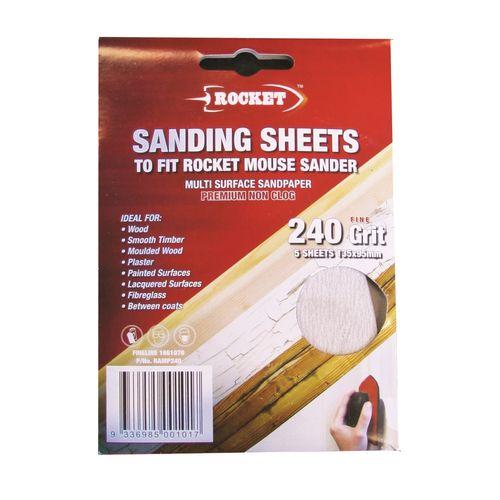 Rocket 240G Mouse Sanding Sheet - 5 Pack