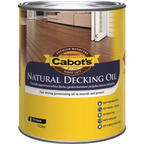Cabot's 1L Natural Decking Oil - Kwila