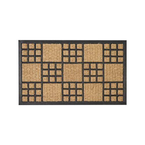 Madras Link 45 x 75cm Rubber And Coir Checker Outdoor Mat