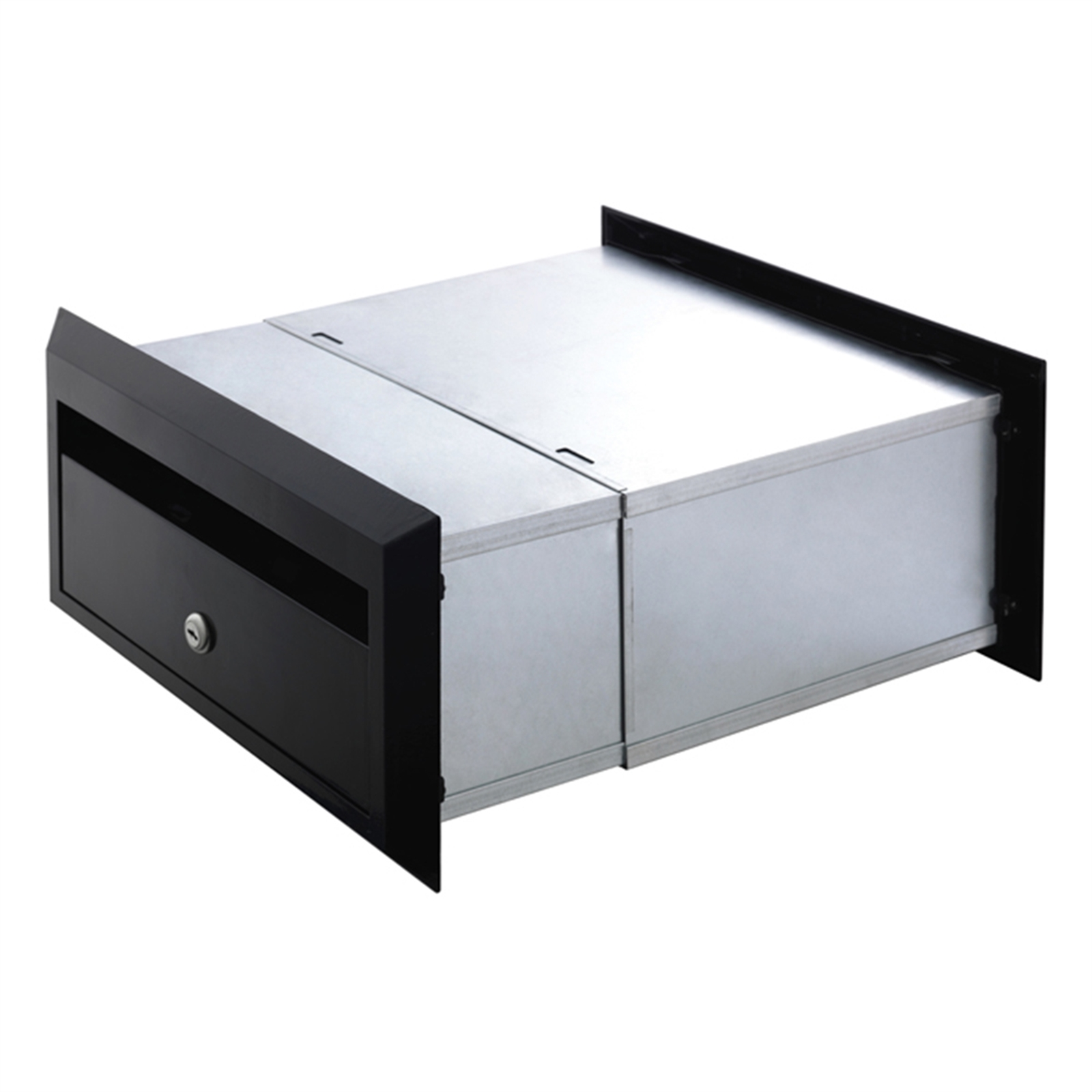 Sandleford 350mm Black Brickies Front Open Letterbox