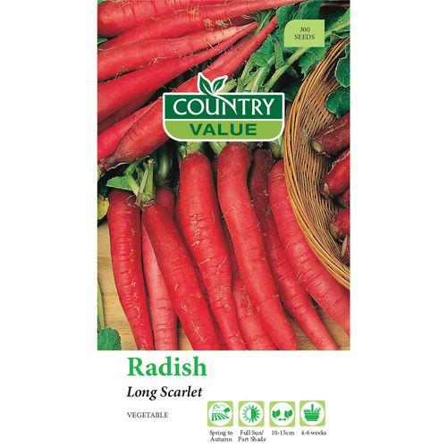 Country Value Radish Long Scarlet