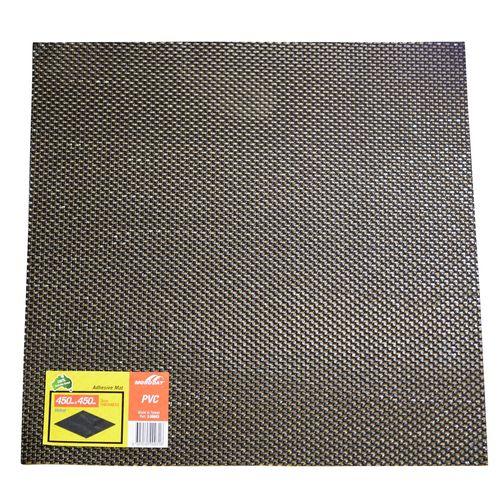 Moroday 450 x 450 x 3mm Black Self Adhesive Holed Mat