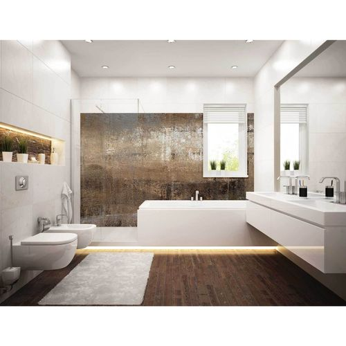 Bellessi 445 x 1200 x 4mm Motiv Polymer Bathroom Panel - Dust Storm