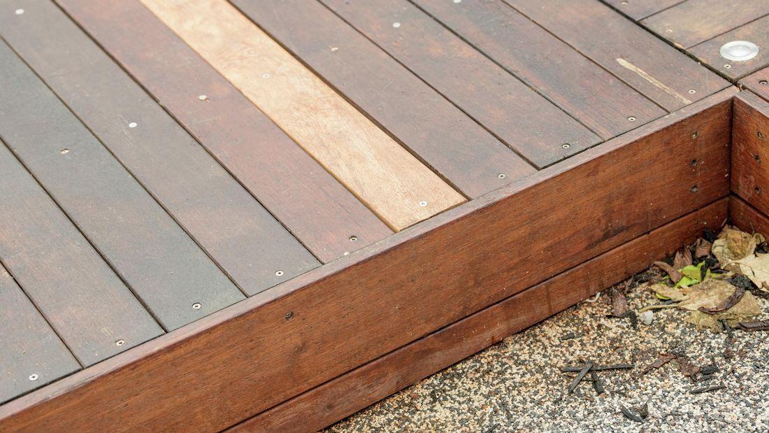 Close-up of timber deck
