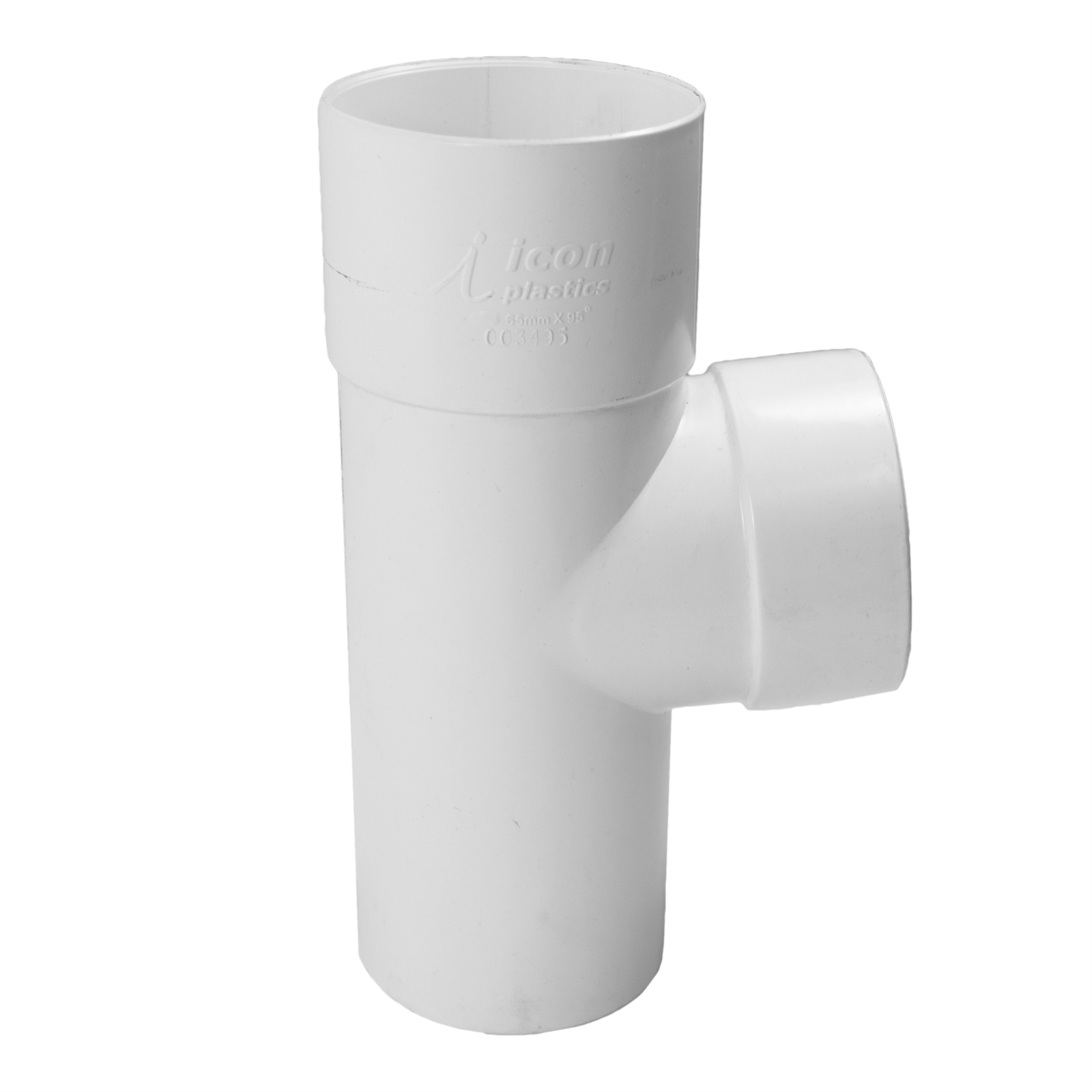 Icon Plastics 65mm 95° PVC Round Junction Downpipe