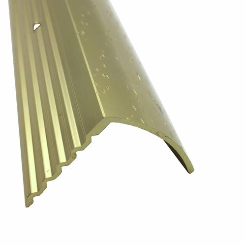 QEP Roberts 3.3m Gold Hammerless Stairnose Trim - 10 Pack