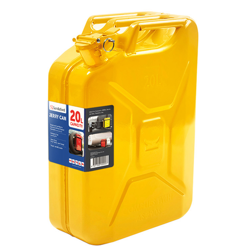 Sandleford 20L Yellow Metal Fuel Can
