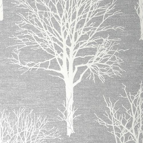 Boutique 52cm x 10m Landscape Dove Grey  Wallpaper