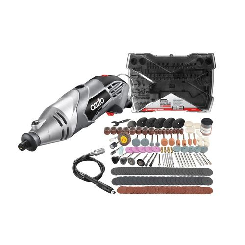 Ozito 170W Rotary Tool Kit With 190 Accessories