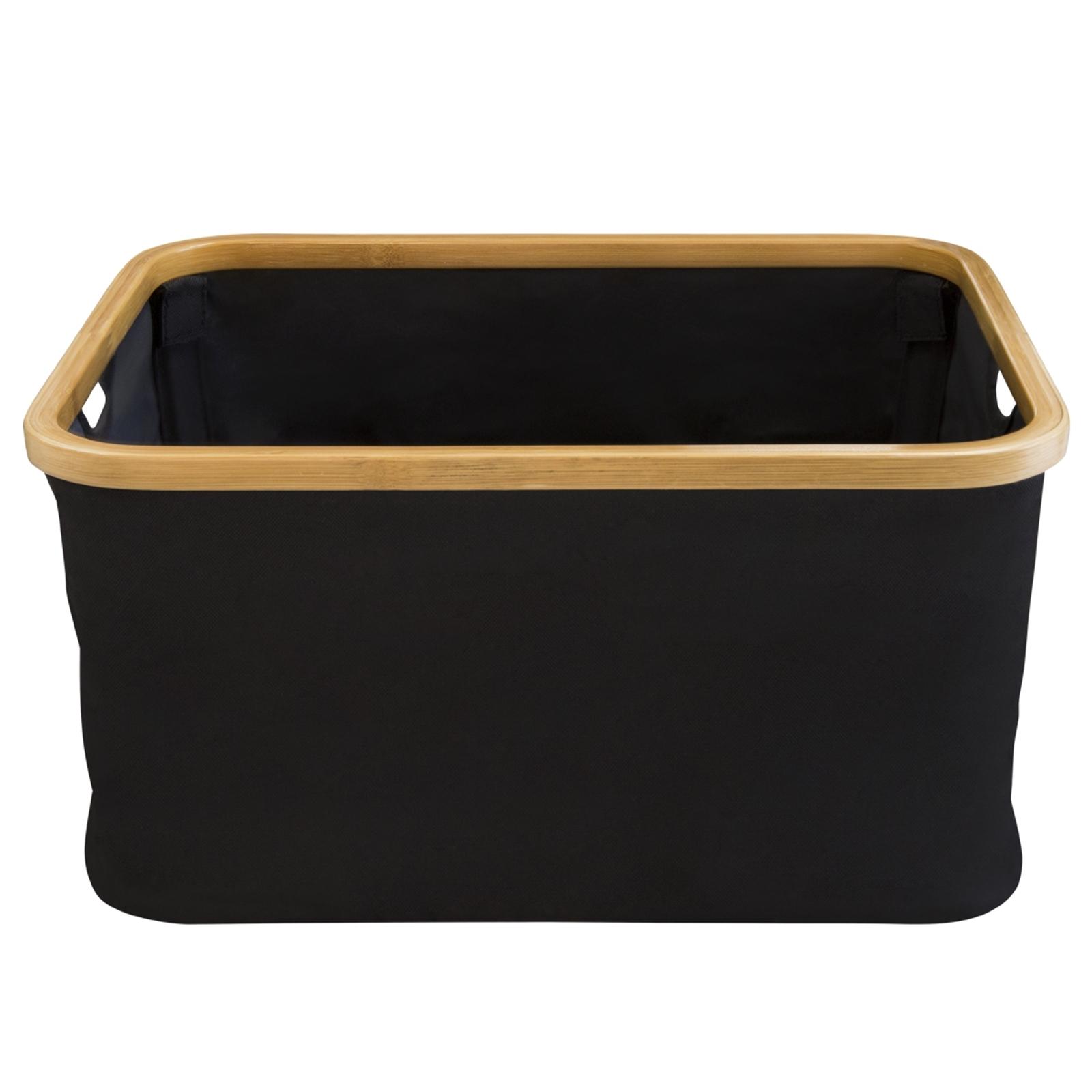Hills Foldable Bamboo Laundry Basket - Black